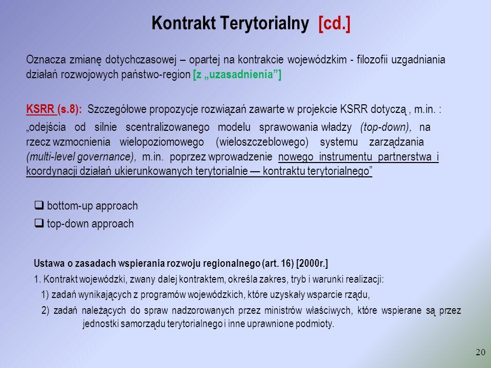 Kontrakt Terytorialny [cd.]